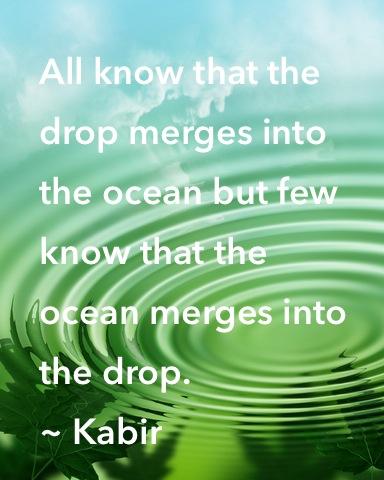Drop in ocean