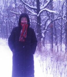 Susan in snow