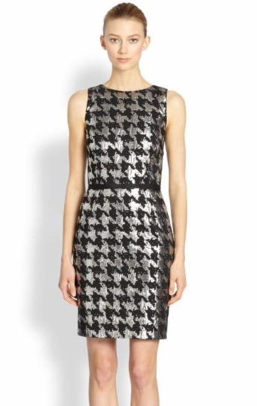 Metallic houndstooth mini