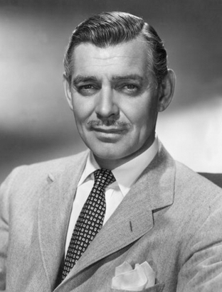 Gable - Still the epitome of masculine suave, wearing herringbone. Sigh!