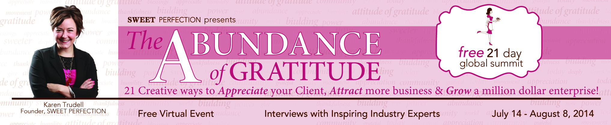The Abundance of Gratitude Full Banner
