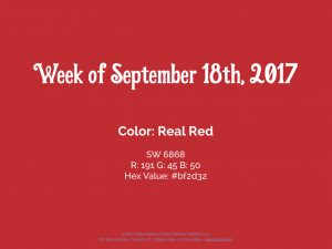 Color for the Week of September 18th 2017