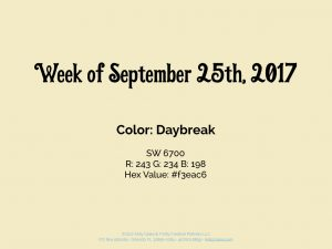 Color for the Week of September 25th 2017