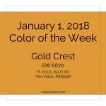 Color of the Week - January 1 2018