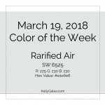 Color of the Week - March 19 2018