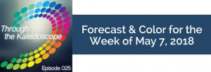Episode 025 - Forecast & Color for the Week of May 7, 2018