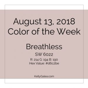 Color of the Week - August 13 2018