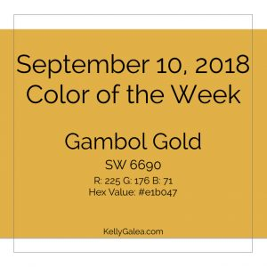 Color of the Week - September 10 2018