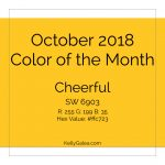 Color of the Month - October 2018