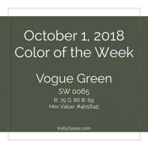 Color of the Week - October 1 2018