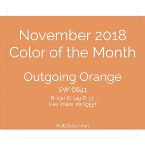 Color of the Month - November 2018