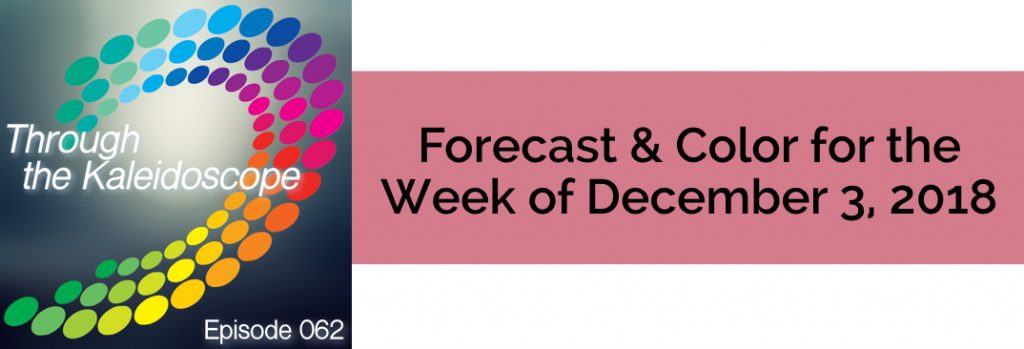 Episode 062 - Forecast & Color for the Week of December 3 2018
