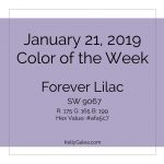 Color of the Week - January 21 2019