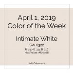 Color of the Week - April 1 2019