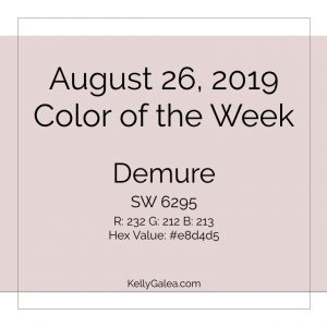 Color of the Week - August 26 2019