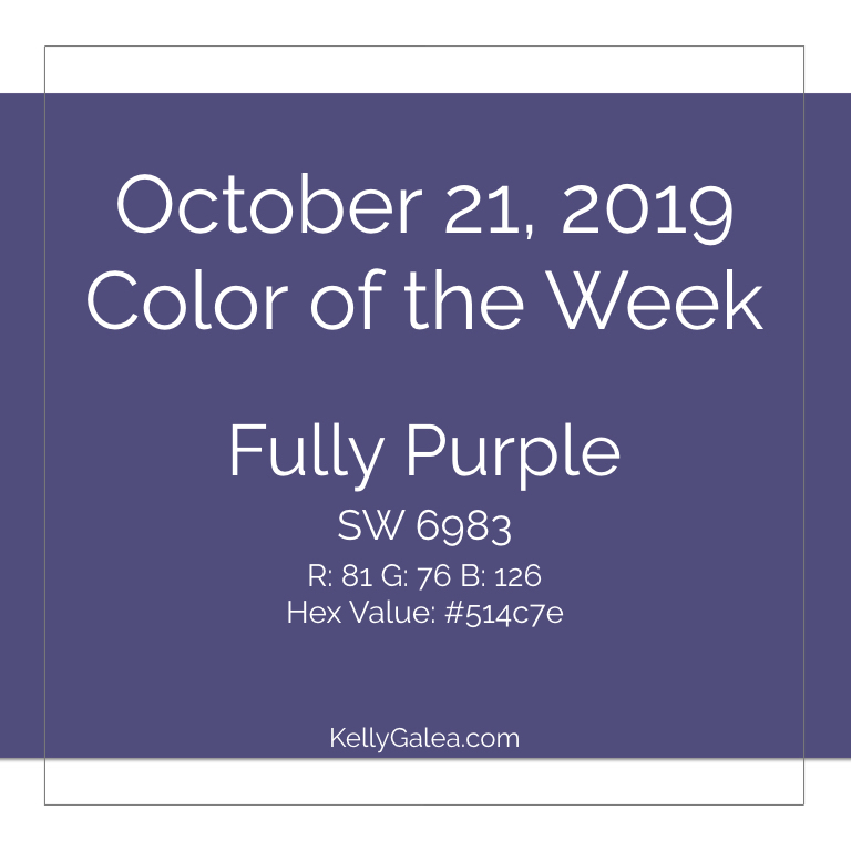 Color of the Week - October 21 2019
