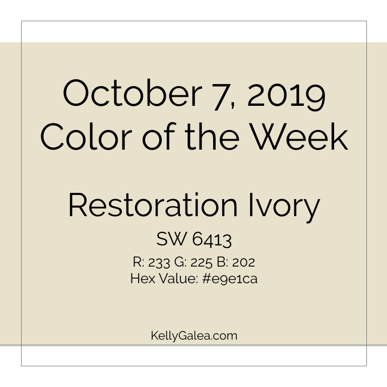 Color of the Week - October 7 2019
