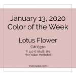 Color of the Week - January 13 2020