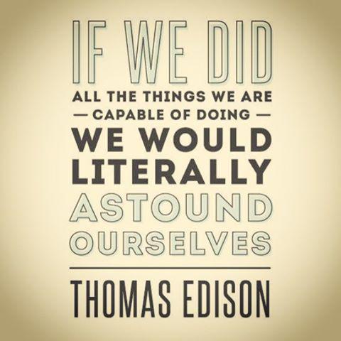 Thomas A. Edison quote