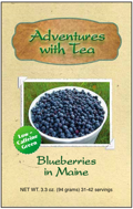 Blueberries in Maine green tea