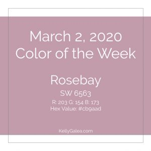 Color of the Week - March 2 2020