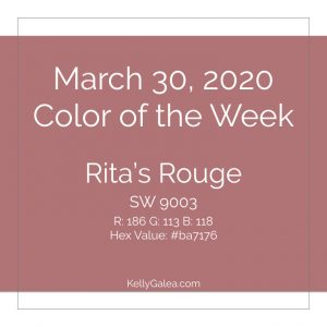 Color of the Week - March 30 2020