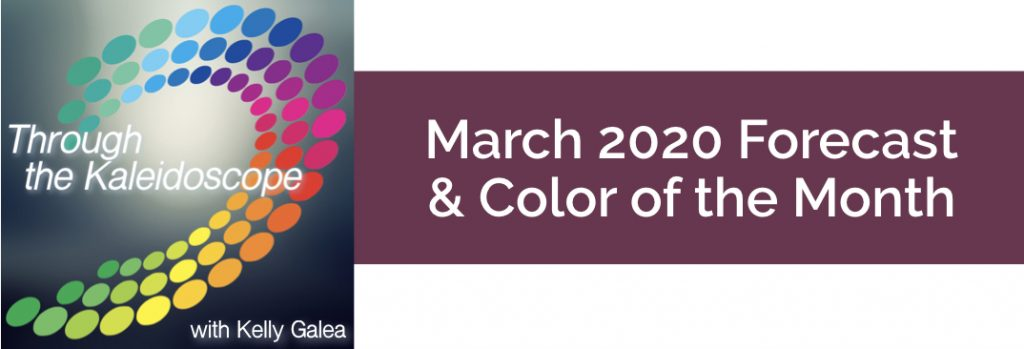 Forecast & Color for March 2020