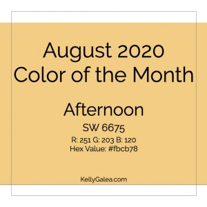 Color of the Month - August 2020