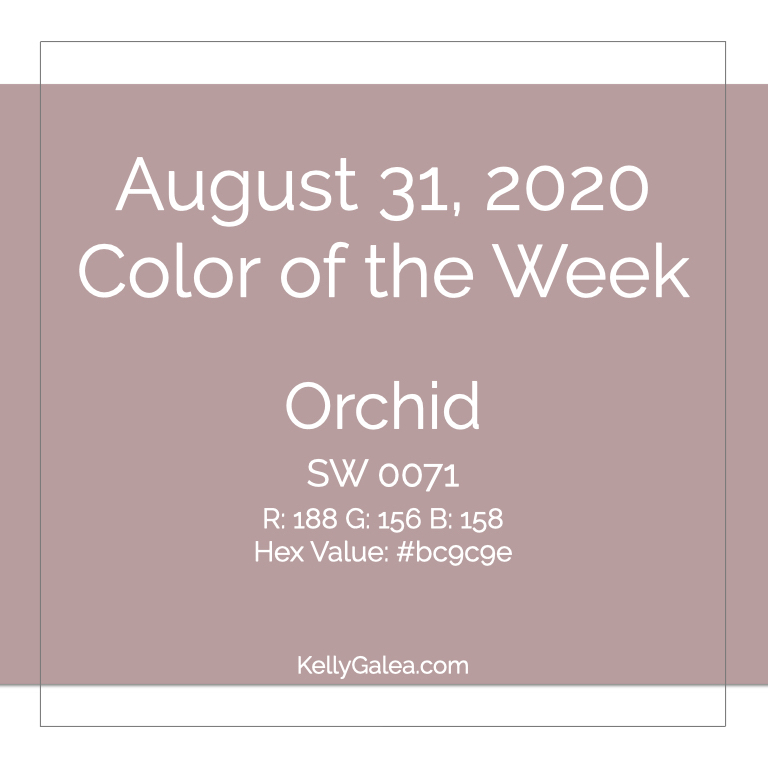Color of the Week - August 31 2020
