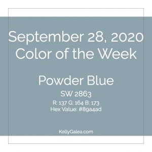 Color of the Week - September 28 2020