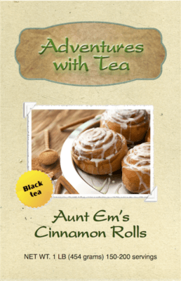 Aunt Em's Cinnamon Rolls - Black tea from Adventures with Tea