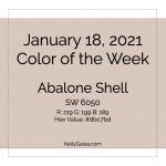 Color of the Week - January 18 2021