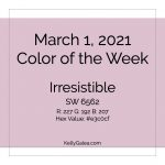 Color of the Week - March 1 2021
