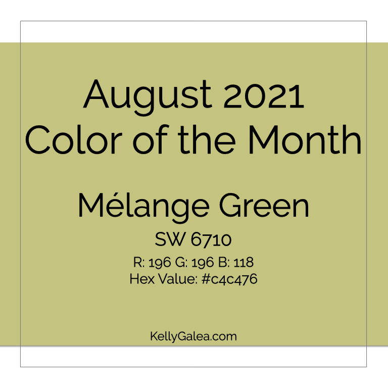 Color of the Month - August 2021
