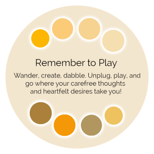 Remember to Play Color Wisdom Oracle card description