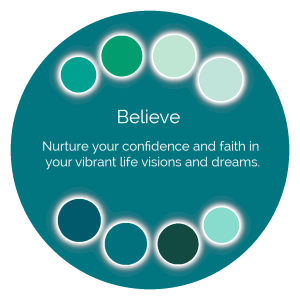 Believe Color Wisdom Oracle card description