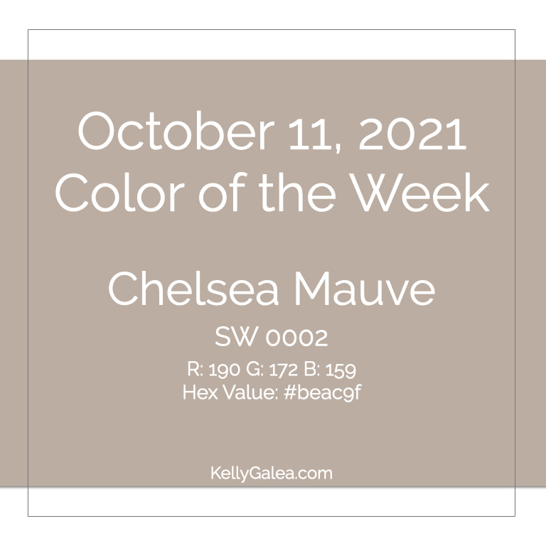Color of the Week - October 11 2021